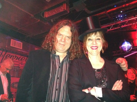 Suzanne Vega with recording engineer Michael Tudor